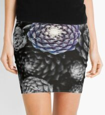 Blue Succulent Mini Skirt
