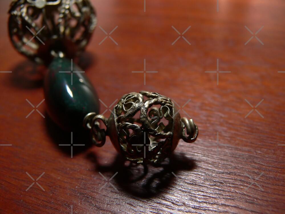 Moroccan dangle with  metal beadwork by Sandra Chung
