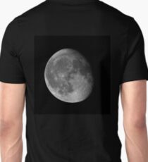 Moon Waning Gibbous 87% phase against black night sky high resolution image T-Shirt