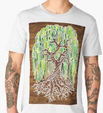 Weeping Willow Tree - Natural (infilled) Men's Premium T-Shirt