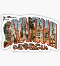 Greetings from Savannah, Georgia Sticker