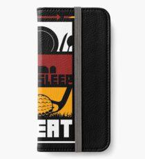 Eat, Sleep, Golf, Repeat - Golfer Novelty T-Shirt iPhone Wallet/Case/Skin