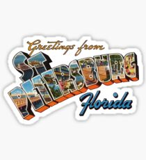 Greetings from St Petersburg, Florida 1 Sticker