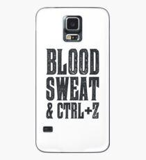Blood, Sweat & Ctrl + Z Case/Skin for Samsung Galaxy