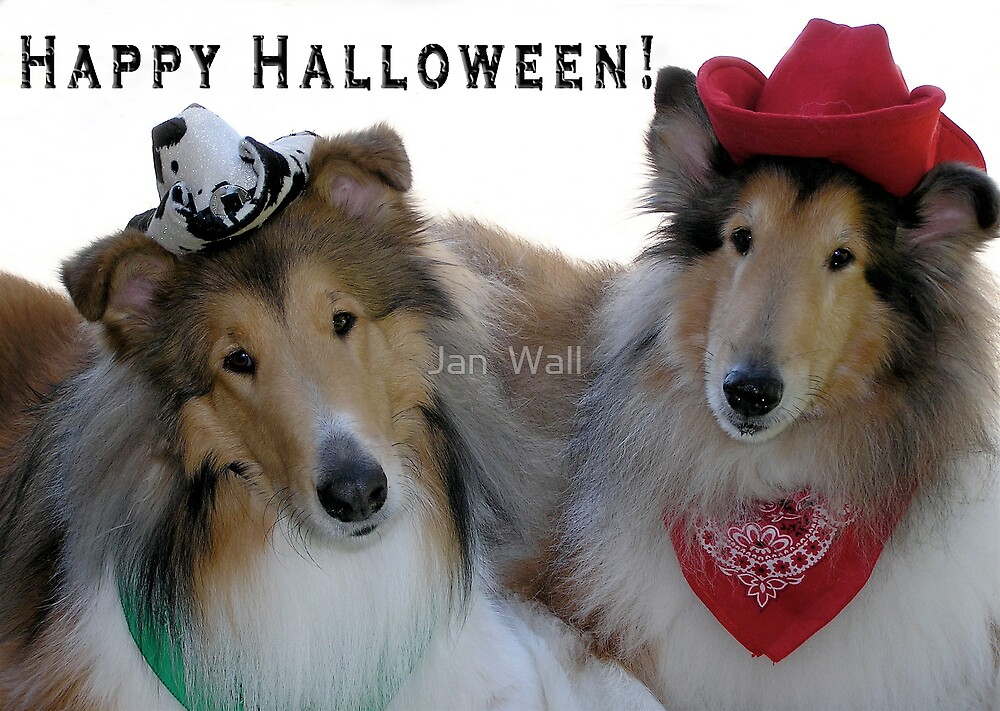 Halloween Cowpokes by Jan  Wall