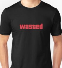 Game Drink T Shirt WASTED GTA DRUNK T-Shirt