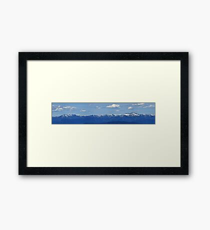 Victorian Alps Panorama Framed Print