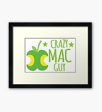 Crazy Mac guy Framed Print