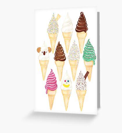 Soft Serve Sundays - Vanilla Greeting Card
