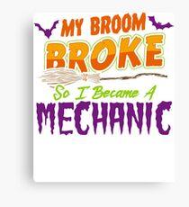 Mechanic Haloween funnyshirt Canvas Print