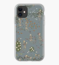 Skeletons with garlands iPhone Case