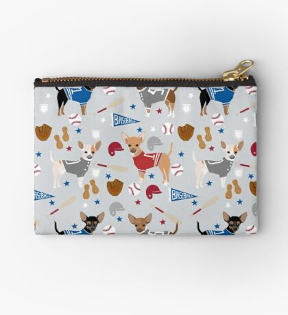 Chihuahua sports fan dog athlete chihuahuas dog breed gifts pet friendly Zipper Pouch