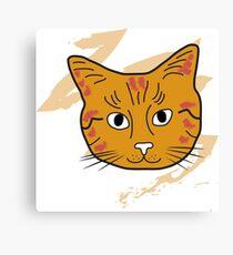 Cat sketch 10 Canvas Print