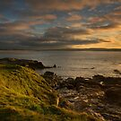 Sunset at St Ives bay Cornwall by eddiej