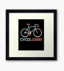 Cycologist Funny Cycling Bicycle Cyclist Road Bike Framed Print
