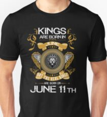 Kings Are Born In June 11th T-Shirt