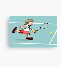 Tennis a passion for this child Canvas Print