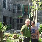 At Frida Kahlo's House With My Late Friend Ogla 2011 by Randy Burns