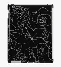 Umriss Blumen - Weiß iPad-Hülle & Klebefolie