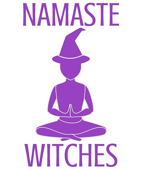 namaste witches purple posters by spoeg redbubble