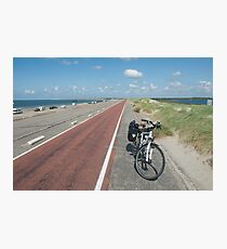 Bicycle on Brouwersdam  Photographic Print
