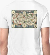 Celestial, Map, from the golden age of, Netherlandish, cartography, by the Dutch cartographer Frederik de Wit. T-Shirt