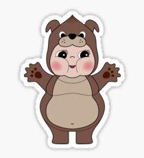 Chubby Dog Kewpie Sticker