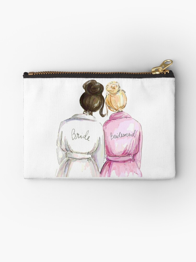 Wedding Gifts Bridal Shower Gifts Best Cute Engagement Gift For Her Bride Bridesmaid Women Best Friend Or Sister Bride And Bridesmaid Zipper