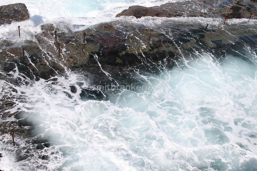 Sea wash at Bogey Hole by Bernadette Smith (c) by smithrankenART