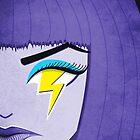 Lightning Eye Girl In Silent Rage by Boriana Giormova