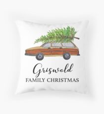 Christmas vacation Griswold family Christmas Throw Pillow