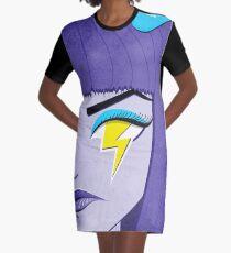 Lightning Eye Girl In Silent Rage Graphic T-Shirt Dress