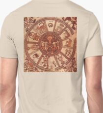 Wheel of the Zodiac, 6th Century Mosaic pavement in a synagogue incorporates Greek, Byzantine elements, Beit Alpha, Israel. T-Shirt