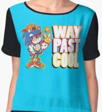 Way Past Cool, Dude! Women's Chiffon Top