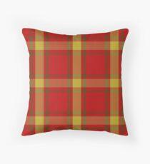 Maguire Clan   Orange and yellow   Scottish Tartan Throw Pillow