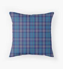 Blue and White   Clan   Scottish Tartan Throw Pillow