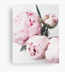 Blumendruck, skandinavisch, Pfingstrose, Modedruck, skandinavische Kunst, moderne Kunst, Wandkunst, Print, minimalistisch, modern Metallbild