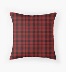Red and Black   Clan   Scottish Tartan  Throw Pillow