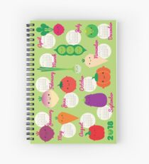 5 A Day Kawaii Vegetables 2018 Calendar Spiral Notebook