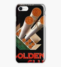 Golden Club Cigarettes Poster, 1925 iPhone Case/Skin
