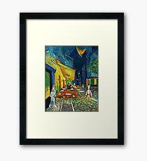 Goodsoup terrace at night Framed Print