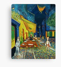 Goodsoup terrace at night Canvas Print