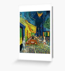 Goodsoup terrace at night (Monkey Island) Greeting Card