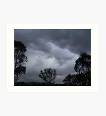 September Storm - Gungahlin (Australian Capital Territory) Art Print