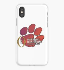 Clemson Tigers 2017 National Champions NCAAF iPhone Case/Skin