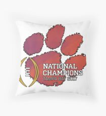 Clemson Tigers 2017 National Champions NCAAF Throw Pillow