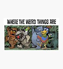 Where the Weird Things Are Photographic Print