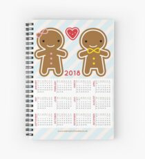 Cookie Cute Gingerbread Couple 2018 Calendar  Spiral Notebook