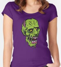 Green Monster with Melting Skin Women's Fitted Scoop T-Shirt