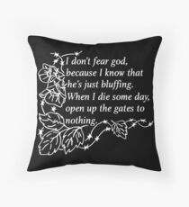 Oh Lord, I have my doubts - White Throw Pillow